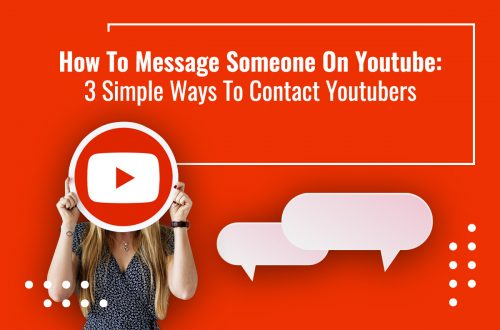 How to message someone on Youtube; feature image