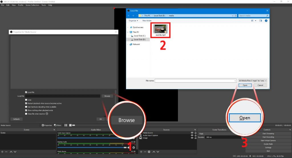 Make Shorts on PC with OBS Studio: step 7