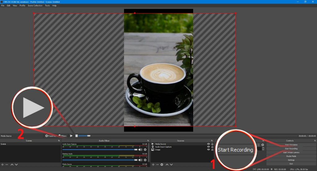 Make Shorts on PC with OBS Studio: step 8-9