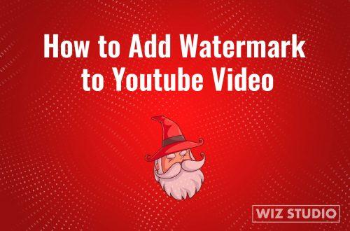 Watermark YouTube video step by step.