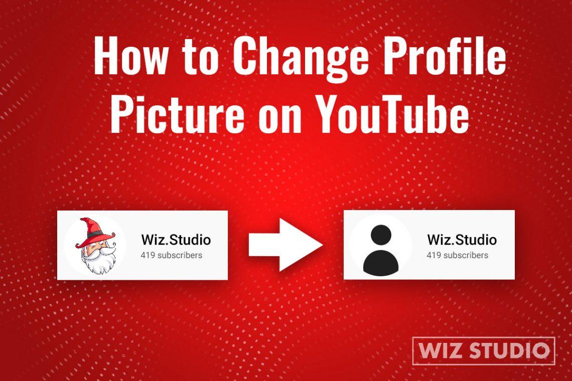 Change youtube profile avatar